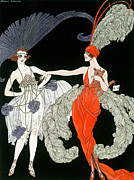 Dog Clothes Posters - The Purchase  Poster by Georges Barbier