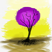 Art Photography Prints - The purple tree Print by Art Photography
