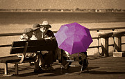 Citizens Prints - The Purple Umbrella Print by Jeff Breiman