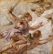 Famous Artists - The pursuit of the Harpies by Peter Paul Rubens