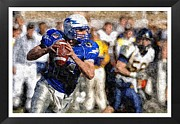 Sports Pyrography Metal Prints - The Quarterback Metal Print by John Vito Figorito