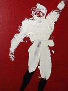 Quarterback Paintings - The Quarterback by Omar Hafidi