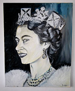 Princes Painting Framed Prints - The Queen Framed Print by Melissa Bollen