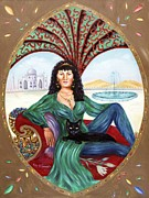 Archetype Painting Posters - The Queen of Sheba Poster by Karin  Leonard
