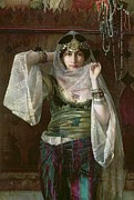 Silk Paintings - The Queen of the Harem by Max Ferdinand Bredt