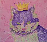 Furry Felines Painting Prints - The Queen Print by Rhonda Leonard