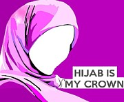 Hijab Paintings - The Queen by Shaz Aslam