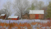 Farm Buildings Painting Originals - The Quiet Farm Bucks County by Kit Dalton