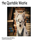 Book Cover Photo Prints - the Quotable Westie Print by Edward Fielding