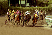 Original Art Photo Prints - The Race at Gulfsteam Print by Jason M Silverman
