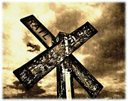 Mccarthy Prints - The Railroad Crossing Print by Glenn McCarthy Art and Photography
