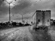 Greyscale Prints - The Rain Makes Mysteries Print by Wendy J St Christopher