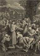 The Raising Of Lazarus 1886 Engraving Print by Antique Engravings
