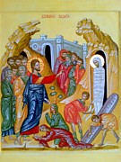 Orthodox Painting Originals - The Raising of Lazarus by Andrey  Peshkov
