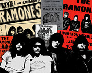 Ramones Prints - The Ramones Print by Glenn Cotler