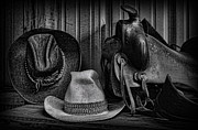 Stetson Framed Prints - The Ranchers Gear - Cowboy Framed Print by Lee Dos Santos