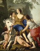 Famous Artists - The Rape of Europa by Laurent de La Hyre