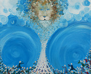 Lion Of Judah Paintings - The Rapture by Rachael Pragnell