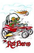 Rat Fink Framed Prints - the Rat Baron Framed Print by Hadi Rochmansyah