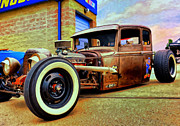 Rat Rod Painting Posters - The Rat Poster by Michael Pickett
