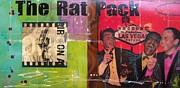 Sinatra Paintings - The Rat Pack by Gino Savarino