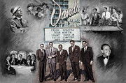 Musicians Mixed Media Framed Prints - The Rat Pack Framed Print by Viola El