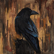 Crows Paintings - The Raven by Billie Colson
