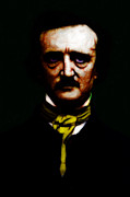 Edgar Allen Poe Posters - The Raven - Edgar Allan Poe Poster by Wingsdomain Art and Photography