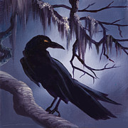 Thunder Paintings - The Raven by James Christopher Hill