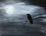 Edgar Allan Poe Paintings - The Raven piece 2 of 2 by Gray  Artus