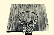 Basketball Pyrography Framed Prints - The Reach Framed Print by Deividas Kavoliunas
