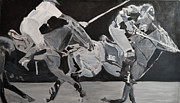 Grisaille Paintings - The Reach by Denise Boineau