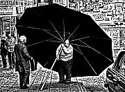 The Really Big Umbrella Print by Jeff Breiman