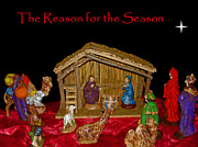 Manger Posters - The Reason for the Season Poster by Sue Melvin
