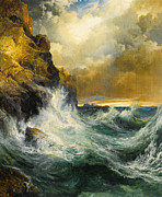 Famous Artists - The Receding Wave by Thomas Moran