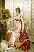 Frederick Digital Art Prints - The Recital Print by Frederick Soulacroix