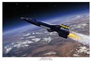 X-15 Prints - The Record Setter Print by Mark Karvon