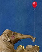 Stories Painting Prints - The Red Balloon... Print by Will Bullas