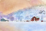 Rural Scenes Digital Art - The Red Barn by Betty LaRue