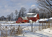 Jim Nelson Art - The Red Barn by Jim Nelson