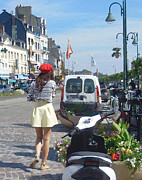 Ann Johndro-Collins - The Red Beret Honfleur...