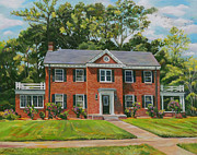 Commision Art - The Red Brick House Commision by Nancy Griswold