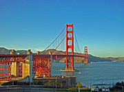 San Francisco Photo Metal Prints - The Red Bridge Metal Print by Mike Podhorzer