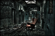 Mental Hospital Art - The Red Chair by Jason Green