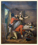 Colonial Man Painting Posters - The Red Coats have Come Poster by Pierpont Bay Archives