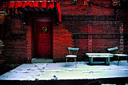 Front Porch Metal Prints - The Red Door Metal Print by Amy Cicconi