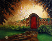 Kinkade Prints - The Red Door Print by David Kacey