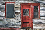 Shed Metal Prints - The Red Door Metal Print by Eric Gendron