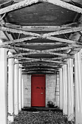 Civitavecchia Prints - The Red Door Print by Jonathan McCallum
