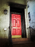 Nyc Digital Art Metal Prints - The Red Door Metal Print by Natasha Marco